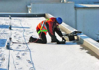 system asekuracji na dach
