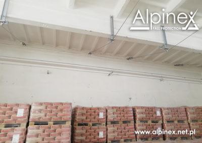 Podwieszany, linowy system zabezpieczający przed upadkiem z wysokości