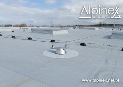 System asekuracyjny na dach pokryty membraną