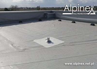 Punkt kotwiczenia na dach pokryty membraną