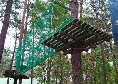 siatka ochronna do parku linowego