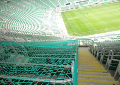 siatka zabezpieczająca stadion