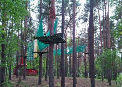 siatki ochronne na park linowy