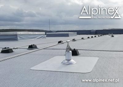 System asekuracji na dach warstwowy