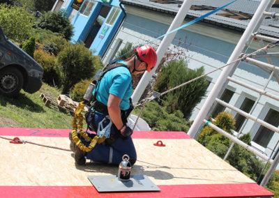 asekuracja na dachu - szkolenie