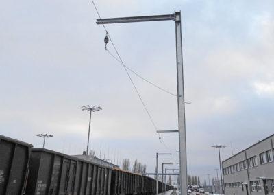 podwieszany system asekuracji na kolei