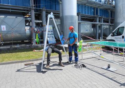szkolenia obsługa trójnogu ewakuacyjnego