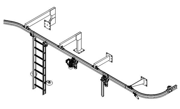 Szyny SafeAcces Rail do prac podwieszanych