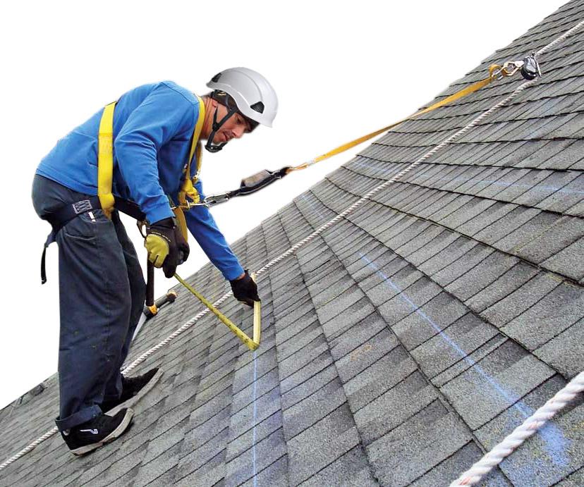 Zestaw asekuracyjny do pracy na dachu stromym
