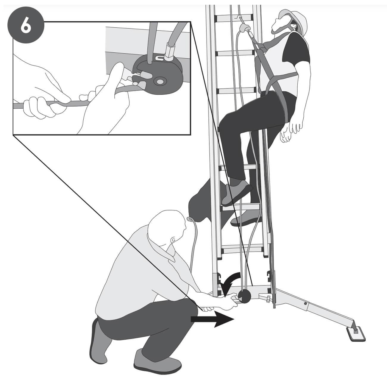 Ratowanie pracownika z drabiny